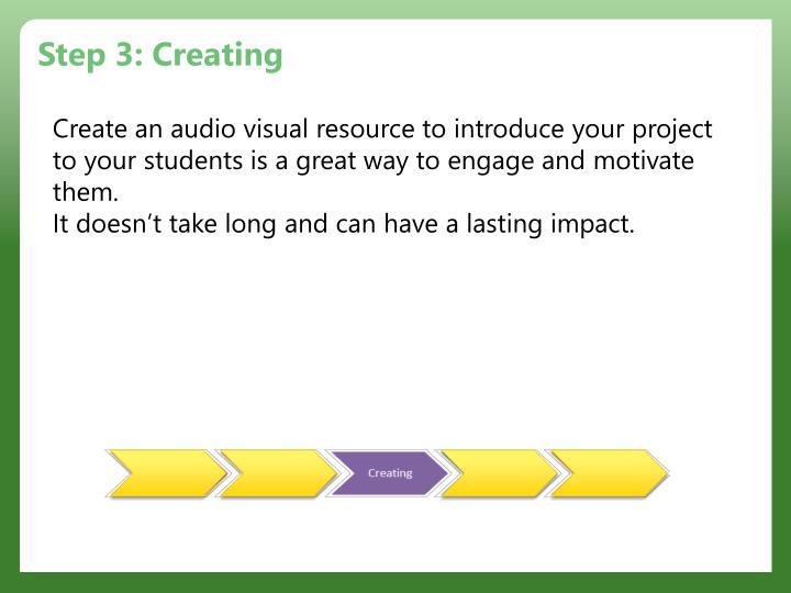 Step 3: Creating