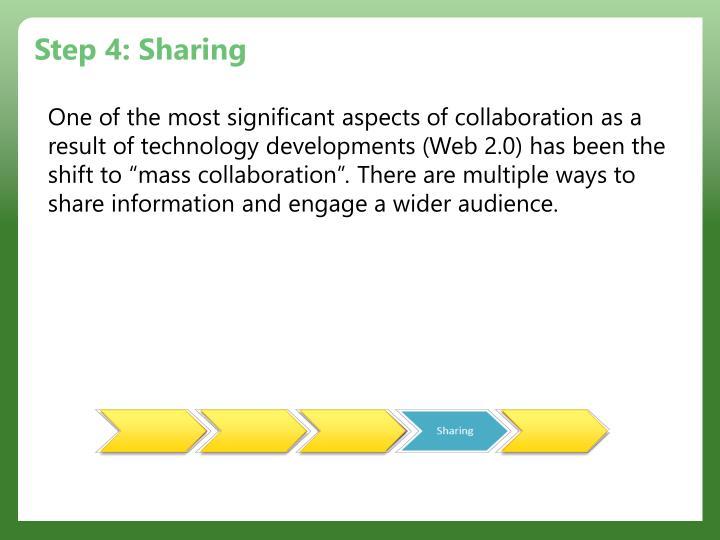 Step 4: Sharing