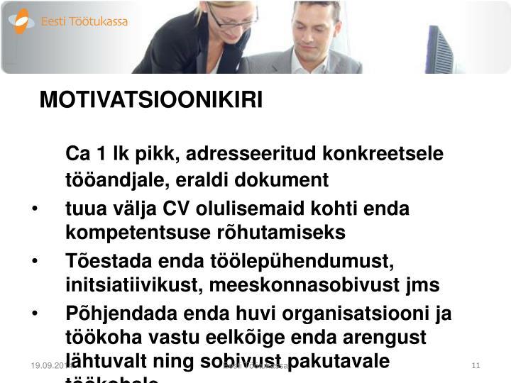 MOTIVATSIOONIKIRI