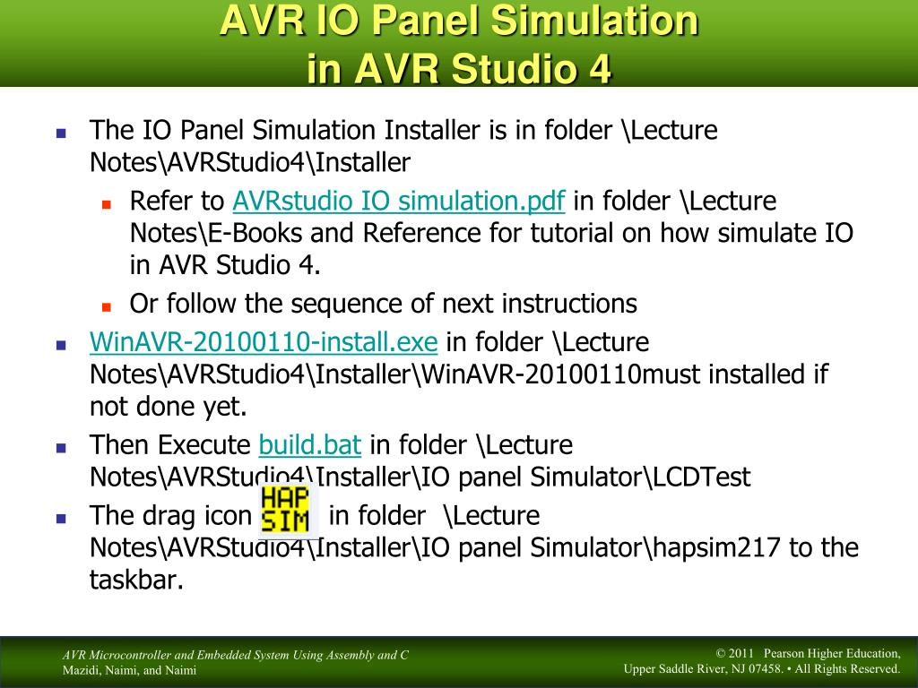 PPT - I/O Ports in AVR Chapter 4 PowerPoint Presentation