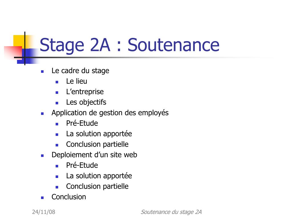 Ppt Stage 2a Soutenance Powerpoint Presentation Free