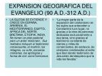 expansion geografica del evangelio 90 a d 312 a d