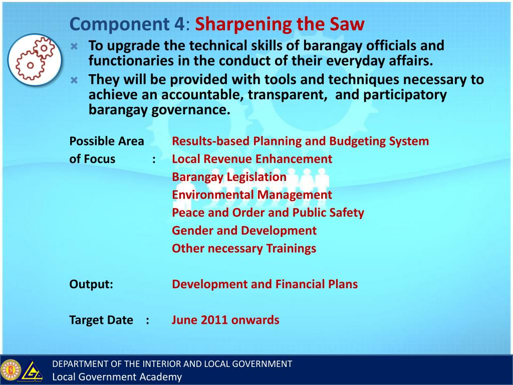 PPT - BARANGAY NEWLY ELECTED OFFICIALS (BNEO) PROGRAM 2010