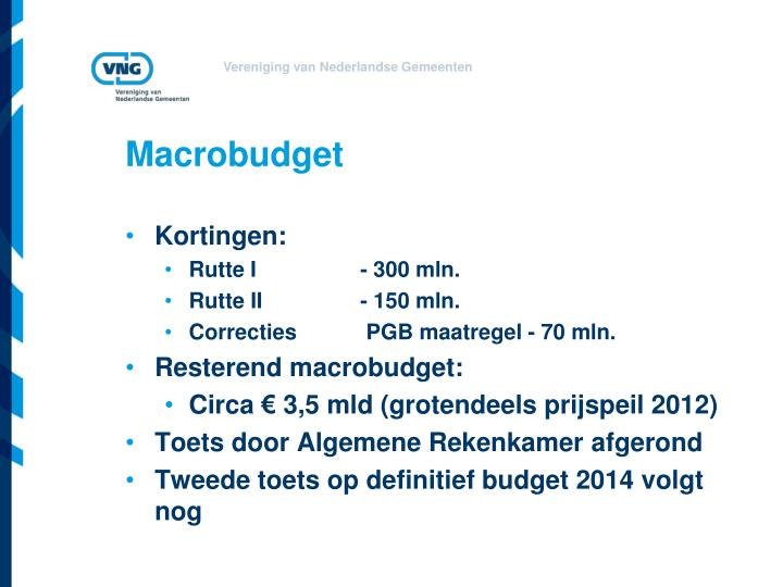 Macrobudget