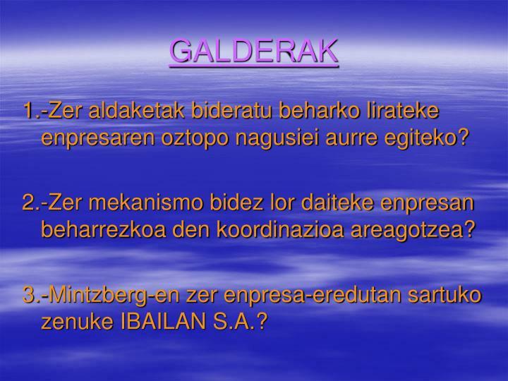 GALDERAK