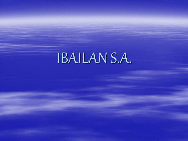 Ibailan s a
