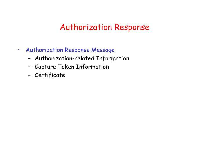 Authorization Response