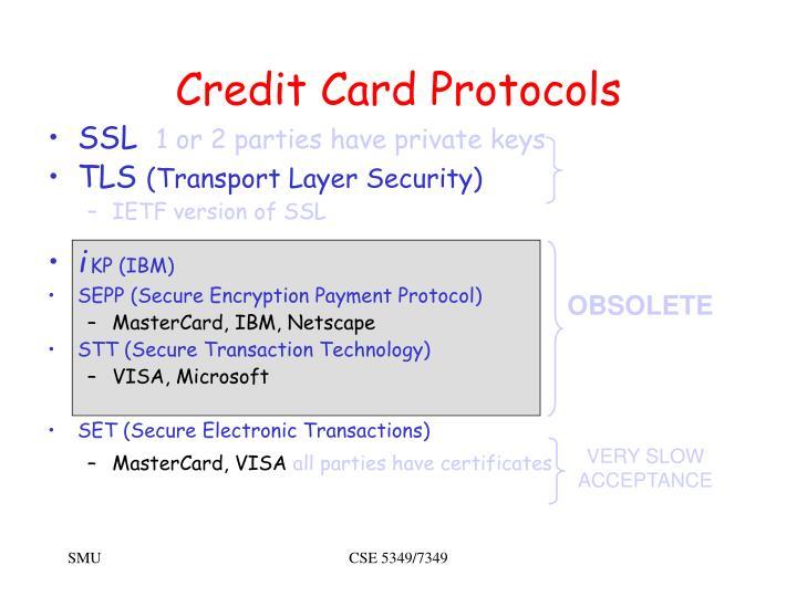 Credit card protocols