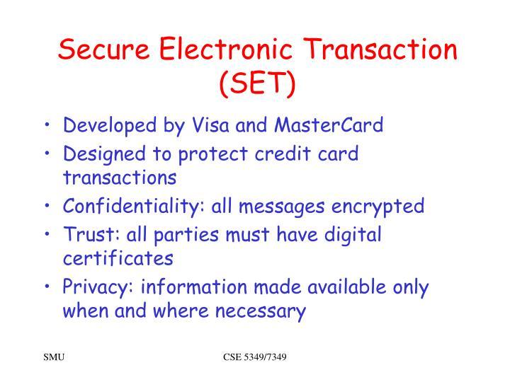 Secure Electronic Transaction (SET)