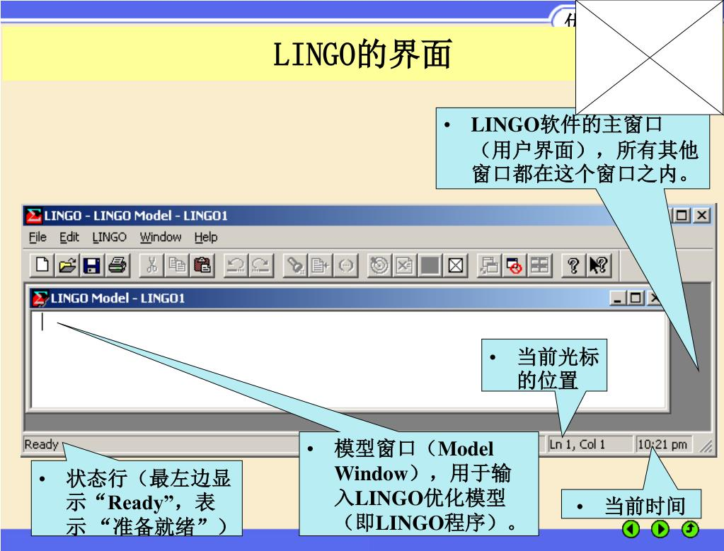 lindo软件_PPT - LINGO 软件的使用简介 1. 在 LINGO 中使用集合 2. 运算符和优先 ...