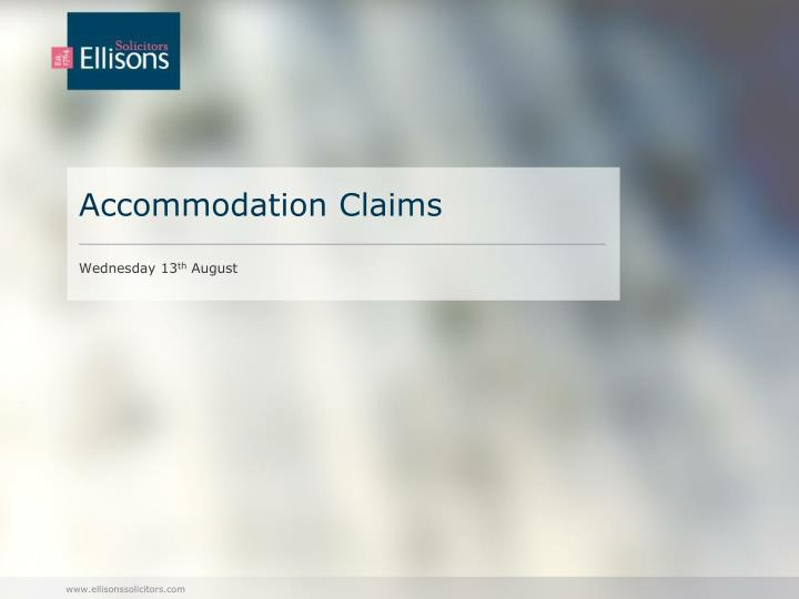 accommodation claims n.