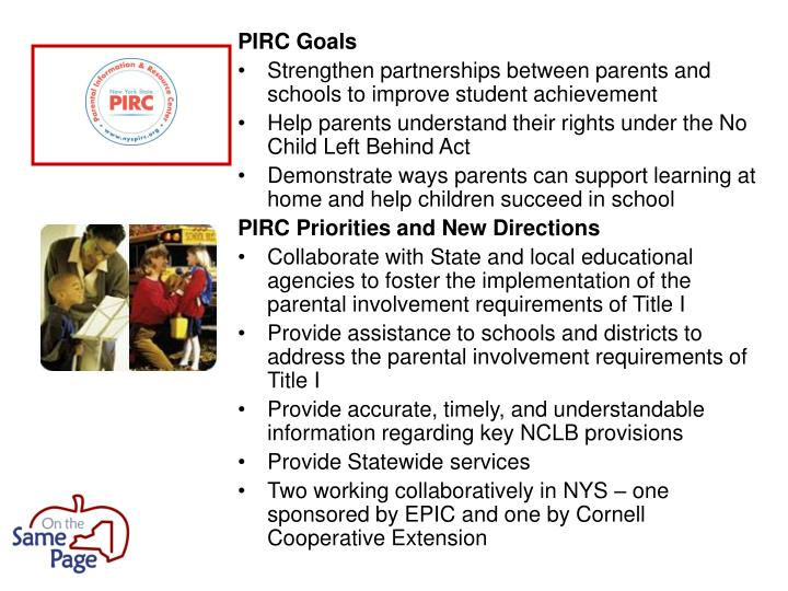 PIRC Goals