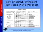 early childhood environment rating scale profile worksheet