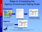 steps to completing the agency environment rating scale