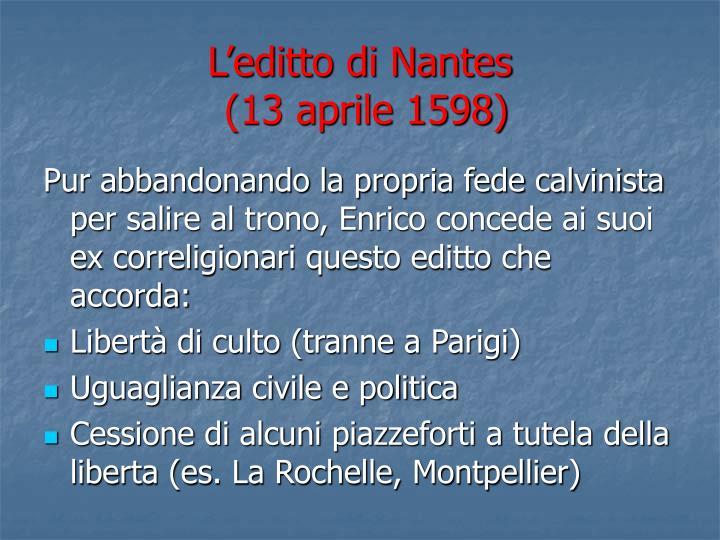L'editto di Nantes