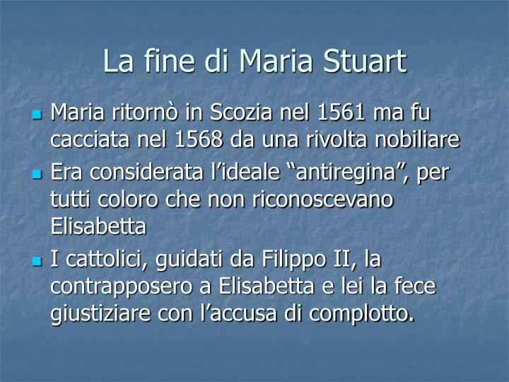 La fine di Maria Stuart