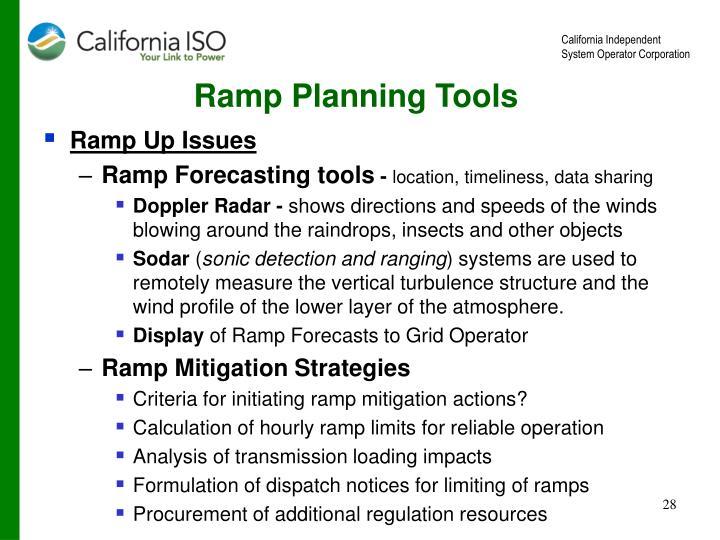 Ramp Planning Tools
