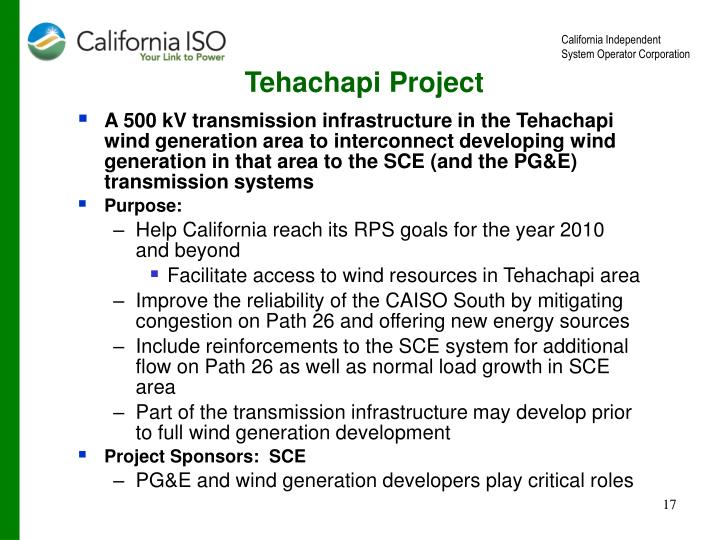 Tehachapi Project