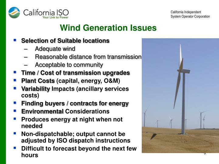 Wind Generation Issues