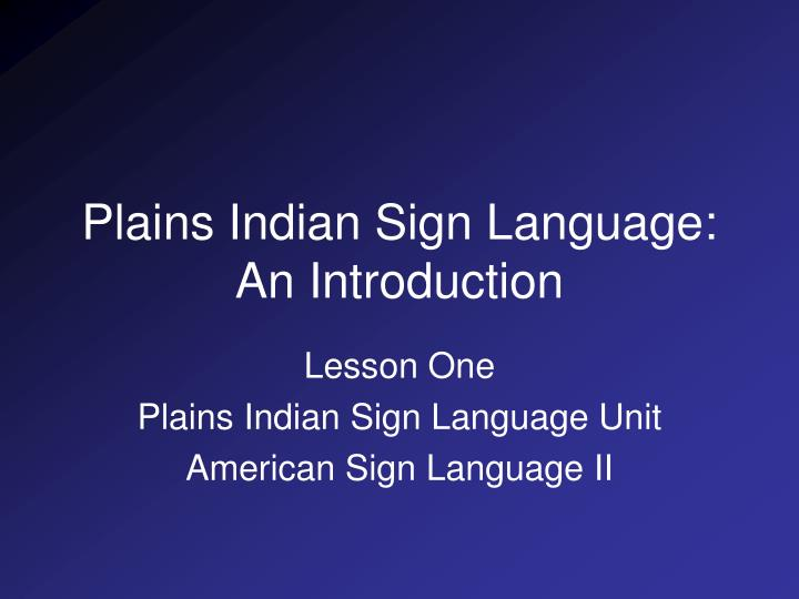 introduction to american sign language
