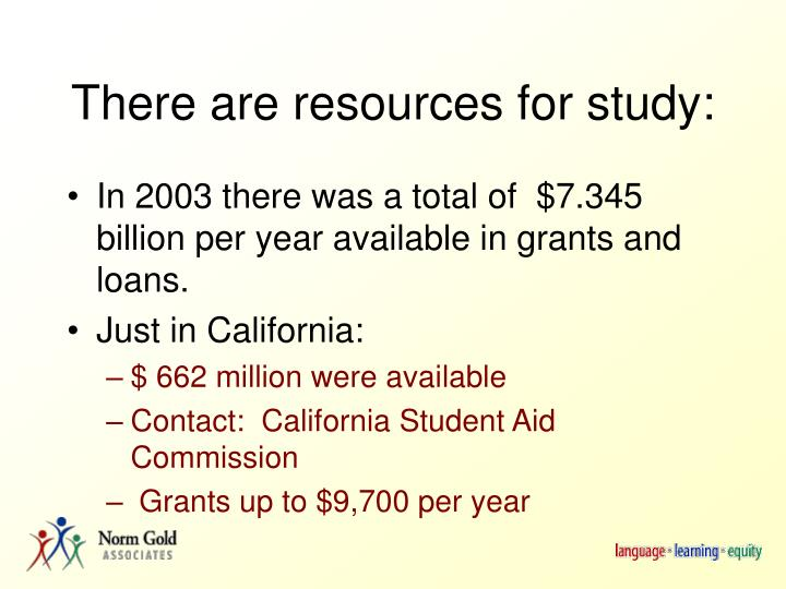 There are resources for study: