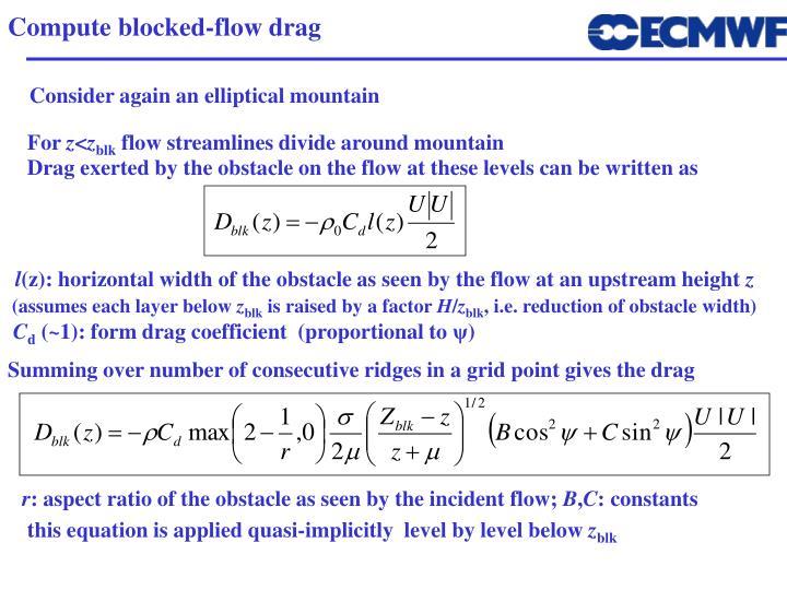 Compute blocked-flow drag