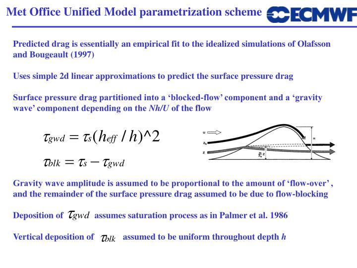 Met Office Unified Model parametrization scheme
