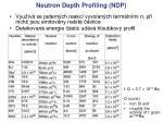 neutron depth profiling ndp