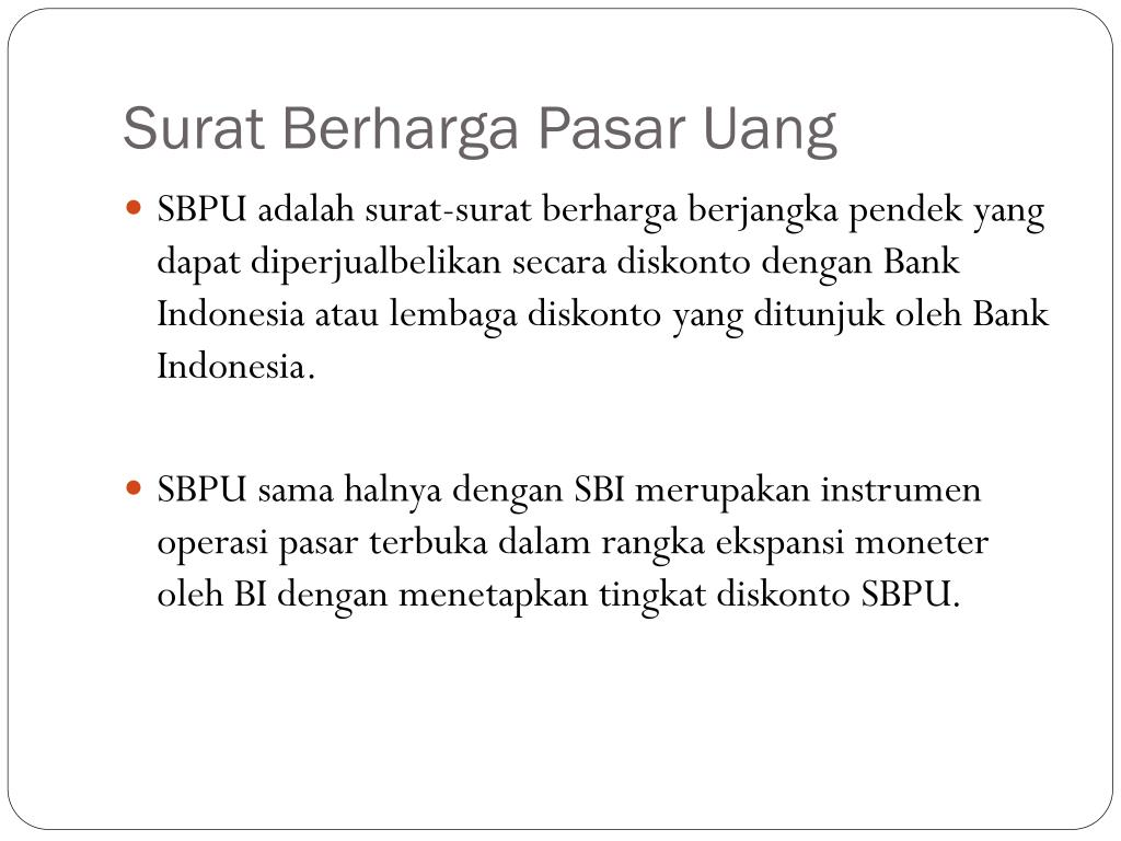 Ppt Pasar Uang Powerpoint Presentation Id4595529