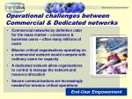 operational challenges between commercial dedicated networks