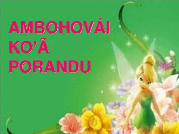 AMBOHOVÁI KO'