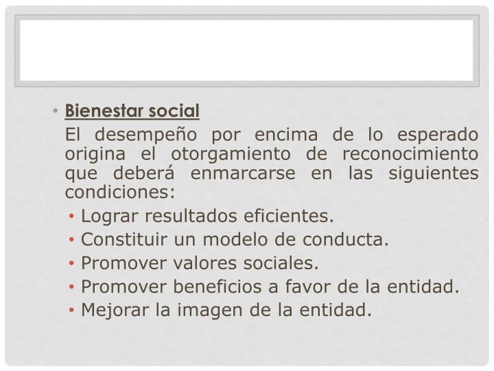 Bienestar social