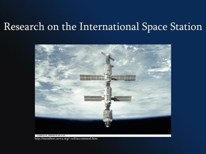 Research on the International Space Station