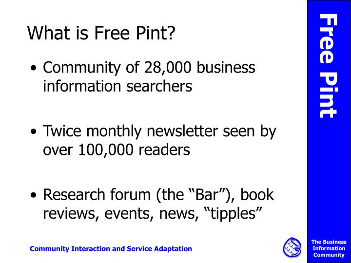 What is free pint