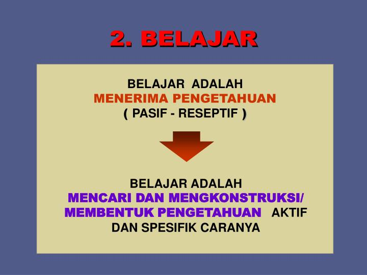 2. BELAJAR