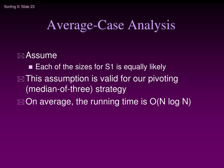 Average-Case Analysis