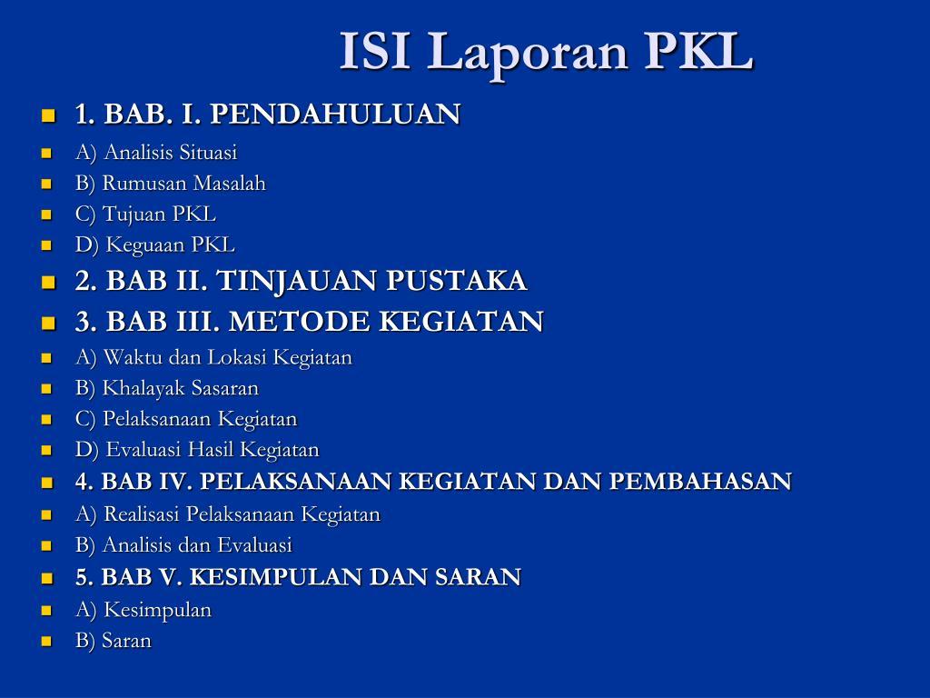 Contoh Laporan Pkl Bab 3