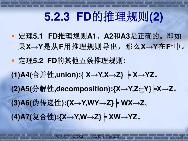 5.2.3  FD