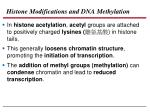 histone modifications and dna methylation