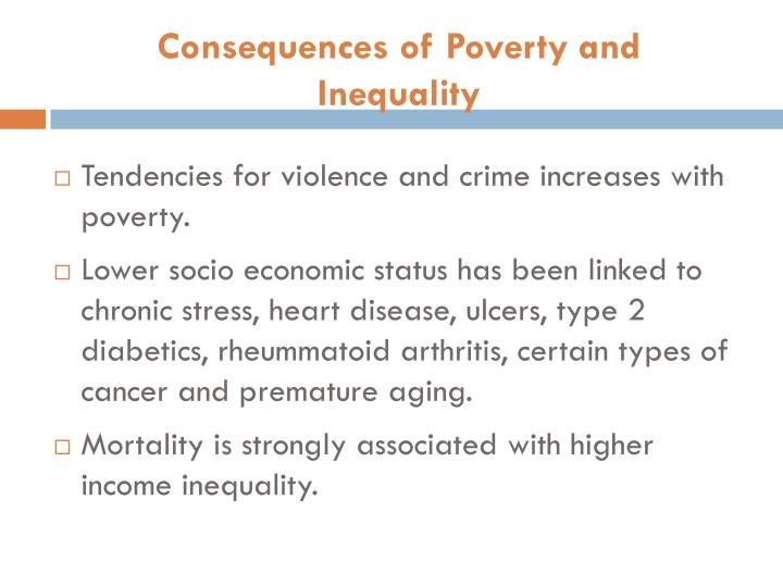 Consequences of Poverty and