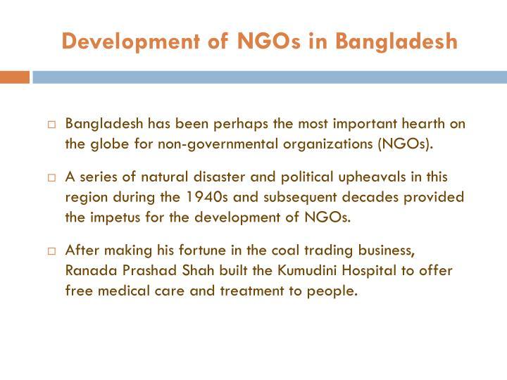 Development of NGOs in Bangladesh