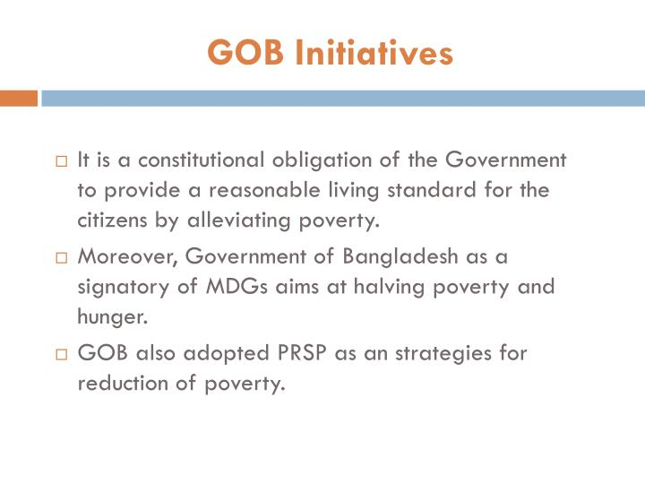 GOB Initiatives