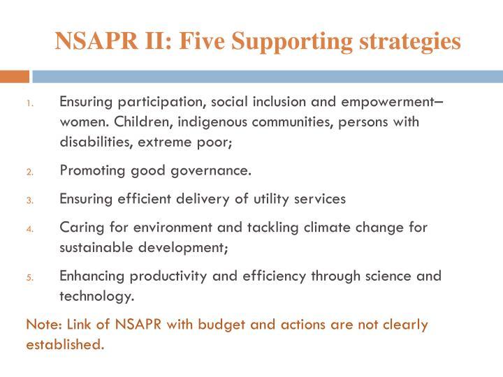 NSAPR II: Five