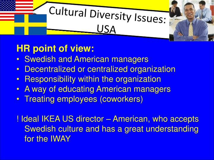 ikea managing cultural differences Business language faculty can use intercultural management cases for a variety of purposes: to teach language  discussion on managing cultural differences.