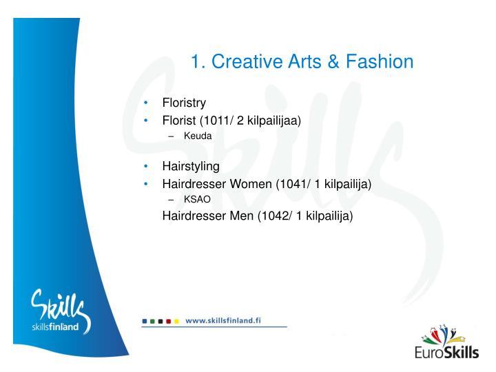 1. Creative Arts & Fashion