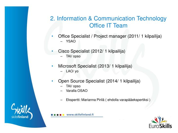 2. Information & Communication Technology