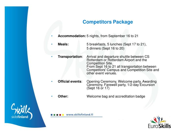 Competitors Package