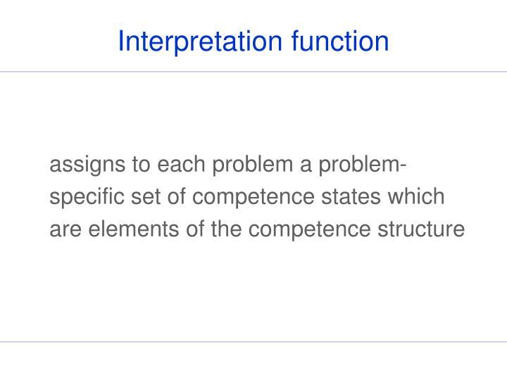 Interpretation function