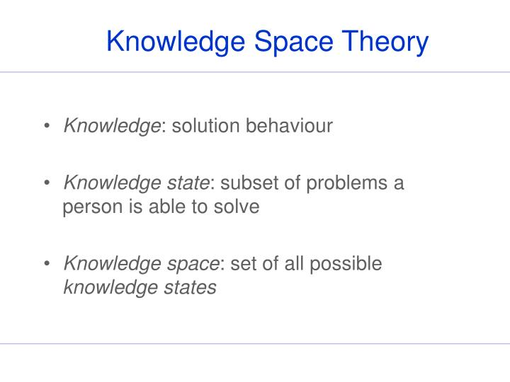Knowledge space theory