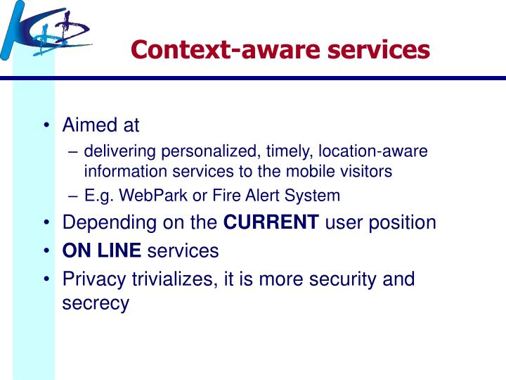 Context-aware services